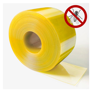 Yellow Anti-Insect Door Curtain For Warehouse